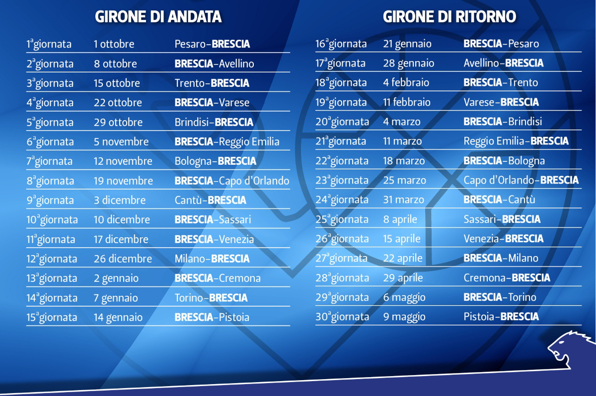 Calendario Grissin Bon.Basket Calendario